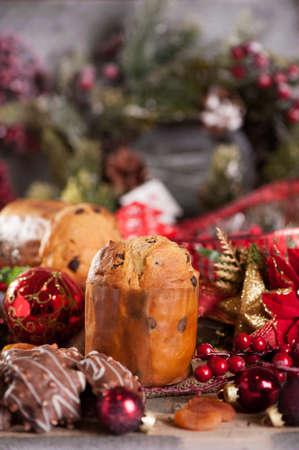 weihnachtskuchen: Panettone Weihnachtskuchen