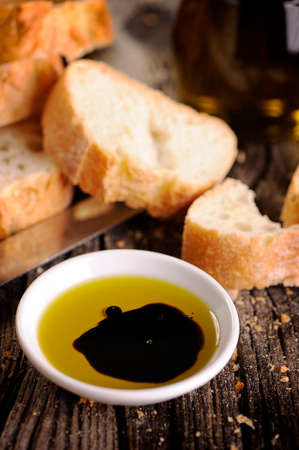 balsamic: Olive Oil and Balsamic Vinegar dip, with bread