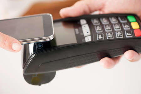 - NFC - Near Field Communication Mobile Payment Standard-Bild