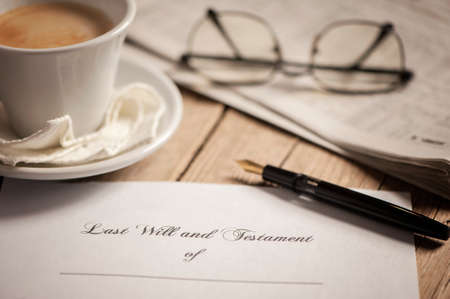 Last will and testament Imagens - 46430260