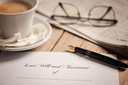 Last will and testament 版權商用圖片 - 46430260