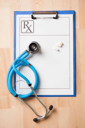 rx: stethoscope on a rx prescription
