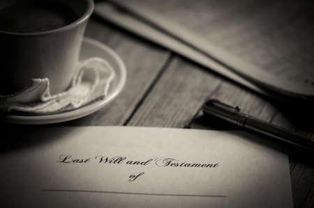 testament: Last will and testament