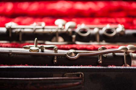 clarinete: clarinete en el caso
