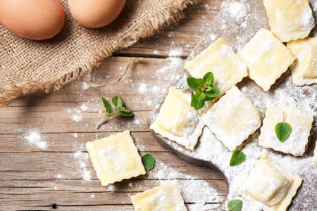 ravioli whit ricotta cheese Standard-Bild