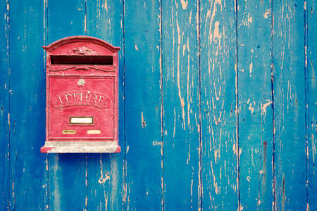 Rode brievenbus Stockfoto