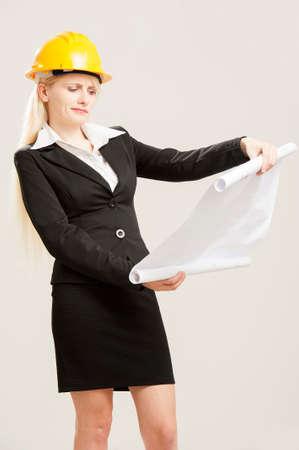 female architect: Female architect Stock Photo