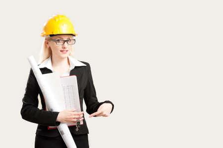 female architect: Portrait of a confident female architect Stock Photo