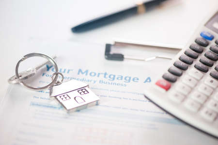 approved: Mortgage application - approved Stock Photo