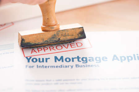Mortgage application - approved Stock Photo