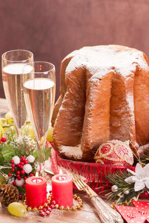 boxing day: Traditional Italian cakes. Pandoro