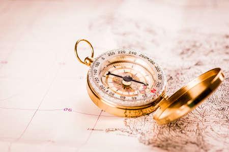 Kompas i mapa Zdjęcie Seryjne