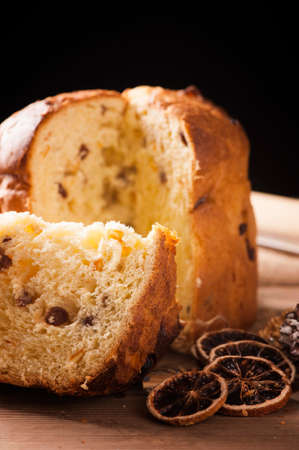 provocative food: Panettone. Tradional Italian Christmas Cake