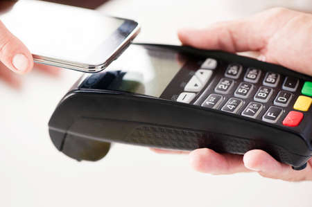 mobile communication: Near field communication, mobile payment Stock Photo