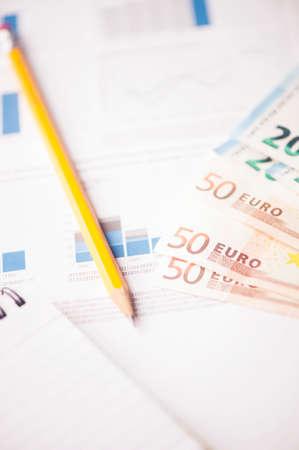euro money on charts