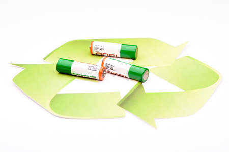 recycling: Green energy recycling battery