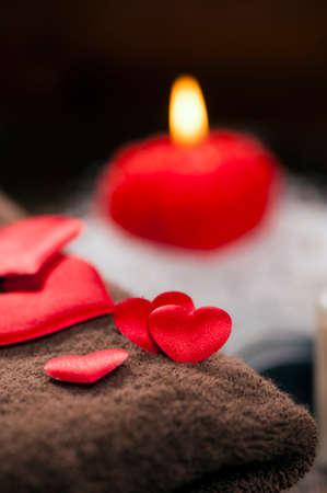 bath essence: Valentine day. Wellness decoration