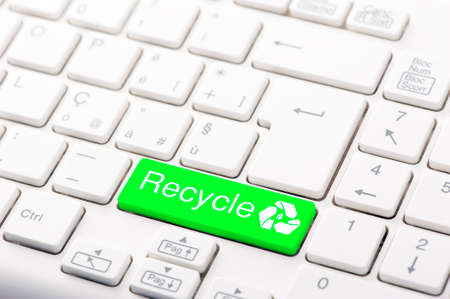 ECO keyboard, Green recycling concept Stock Photo