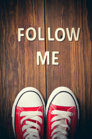 followers: Follow Me Request Concept Stock Photo