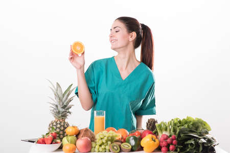 dietology: Nutritionist doctor woman