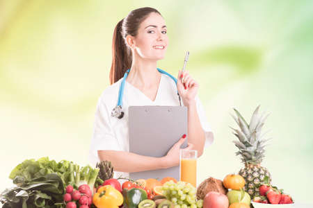Nutritionist doctor woman Stock Photo
