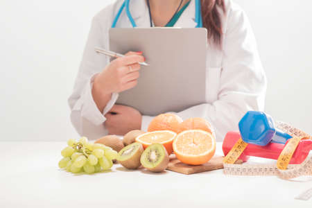 prescription pad: Dietitian doctor