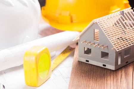 建設中の家 写真素材