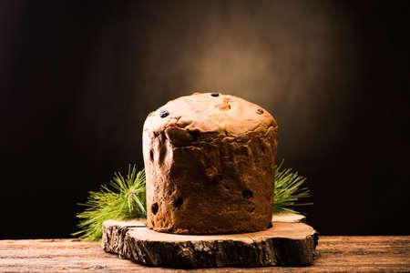 Homemade Panettone for Christmas. The traditional italian christmas cake