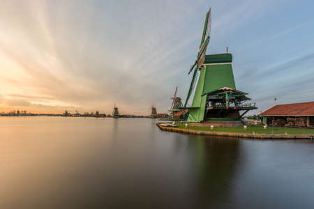 Dutch, mill at sunrise