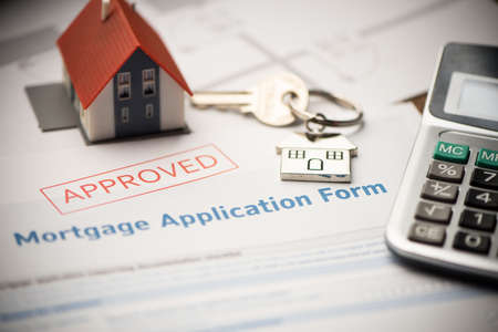 Solicitud de contrato de préstamo hipotecario aprobado