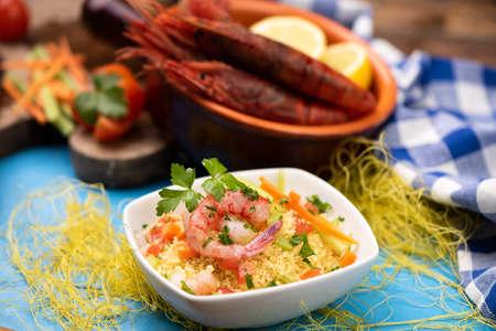 A delicious fish couscous with prawns from Mazara del vallo