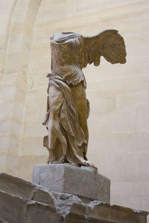 angels fountain: The Nike at Louvre, Paris