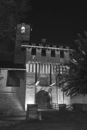 Photo of the Pagazzano Castle (Pagazzano, BG) taken at night