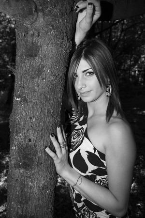 Beautiful model with stunning eyes Stock Photo