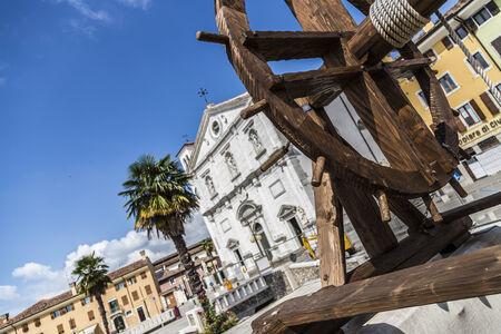 View of the Palmanova square, Friuli Venezia Giulia, Italy Editorial
