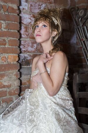 Beautiful model with charming eyes posing Stock Photo