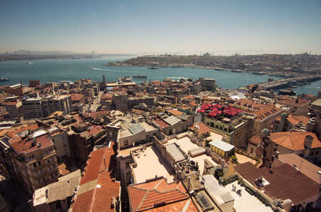 sea life centre: Aerial view of Istanbul from Galata Tower Editorial