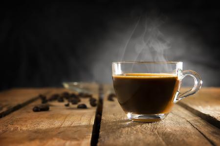 espresso coffee made with mocha machine at home