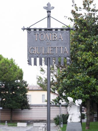 juliet: Tomb of Juliet in Shakespeares Verona novel Editorial