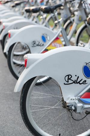 rentals: bike rentals in the city Editorial