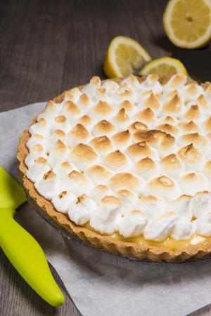 tart with lemon and Italian meringue