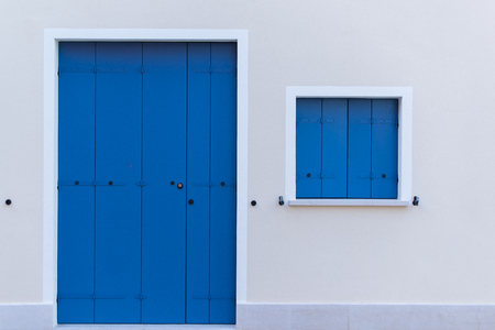 windows and doors: colored doors and windows