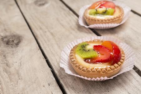 fruit tart: two fruit tart Stock Photo