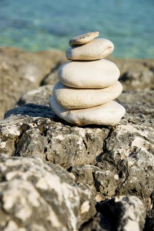 smooth zen stones on Croatian beach