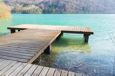 lakeland: details of Lake Barcis in Friuli