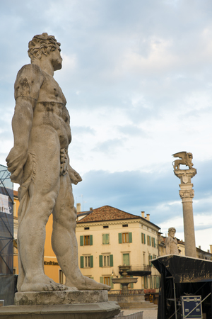 Details of the historical center of Udine