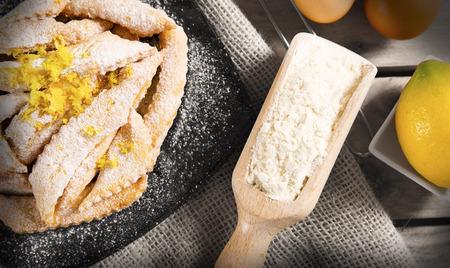 crostoli: sweet crostoli of typical Italian Carnival
