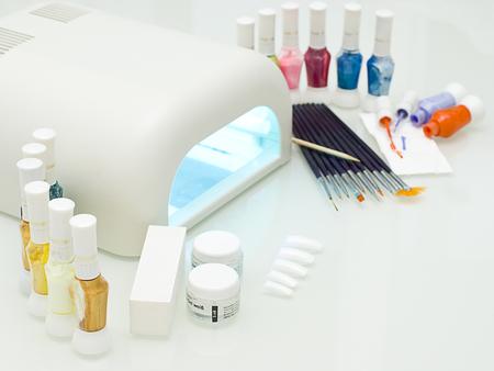 fantastic manicure in a modern beauty shop