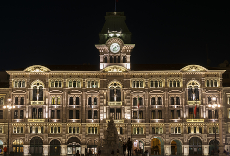 trieste: square of the city of Trieste Stock Photo