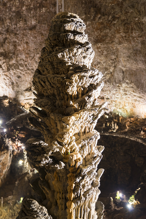trieste: Details of the Grotta Gigante in Trieste Italy